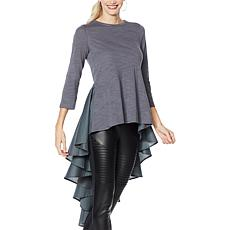 DG2 by Diane Gilman Dramatic Hi-Low Top with Pleated Back