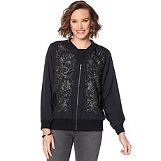 DG2 by Diane Gilman Embroidered Trophy Jacket
