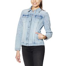 DG2 by Diane Gilman Eyelet Embroidered Denim Jacket