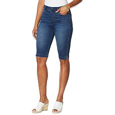DG2 by Diane Gilman Faux Button Fly Bermuda Short  - Basic