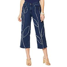 DG2 by Diane Gilman Fray Detail Wide-Leg Jean