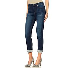 DG2 by Diane Gilman Knit Denim Cuffed Skinny Jean - Basic