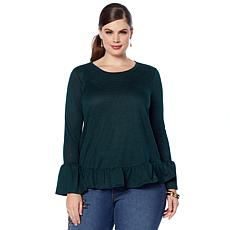DG2 by Diane Gilman Ruffle-Hem Top
