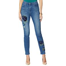 DG2 by Diane Gilman Skinny Jean with Velvet Embroidery - Basic