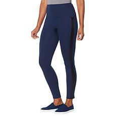 DG2 by Diane Gilman Slim and Sleek Ponte Side Stripe Legging - Basic