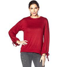 DG2 by Diane Gilman Tie-Sleeve Sweater