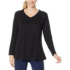 DG2 by Diane Gilman V-Neck Raglan Pullover Sweater