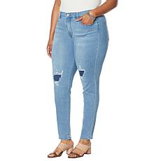 DG2 by Diane Gilman Virtual Stretch Crosshatch Ultra Skinny Jean