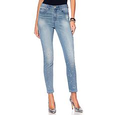 DG2 by Diane Gilman Virtual Stretch Embellished Jewel Skinny
