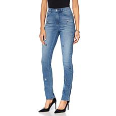 DG2 by Diane Gilman Virtual Stretch Embellished Skinny Jean