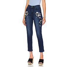 DG2 by Diane Gilman Virtual Stretch Floral Novelty Skinny Jean