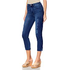 DG2 by Diane Gilman Virtual Stretch Lace Cropped Skinny Jean - Basic