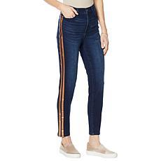 DG2 by Diane Gilman Virtual Stretch Metallic Stripe Skinny Jean