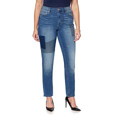 DG2 by Diane Gilman Virtual Stretch Patched Skinny Jean - Piper Wash