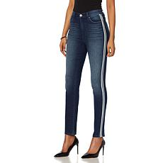 DG2 by Diane Gilman Virtual Stretch Racing Stripe Skinny Jean - Basic