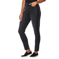 DG2 by Diane Gilman Virtual Stretch Sequin Stripe Skinny Jean