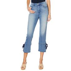 DG2 by Diane Gilman Virtual Stretch Side Slit Crop Jean - Basic