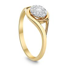 Diamond Couture 0.15ctw Diamond 14K Yellow Gold Ring