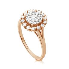 Diamond Couture 14K Gold .5ctw Diamond Round Burst Ring
