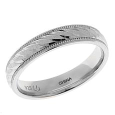 Diamond-Cut and Milgrain 4mm Swirled Band Ring