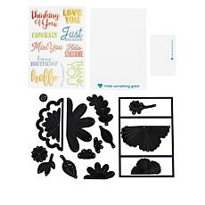 Diamond Press 3D Floral Gatefold Stamp and Die Kit