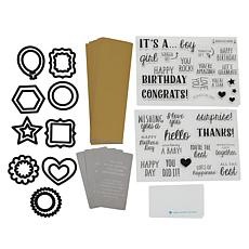 Diamond Press Celebration Stamp and Die Kit