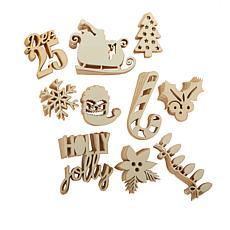 Diamond Press Christmas Design Wood Veneer Kit