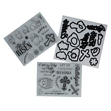 Diamond Press Easter Blessings Stamp and Die Set