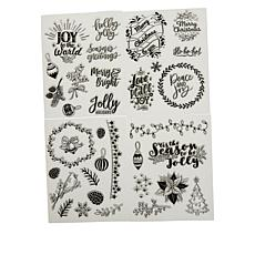 Diamond Press Happy Holidays Stamp Kit