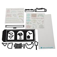 Diamond Press Little Birdie Slim Line Shadow Box Stamp and Die Kit