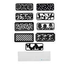 Diamond Press Nestable 12-piece Patterned Background Die Kit