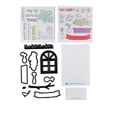 Diamond Press Spring Florals Window View Stamp and Die Kit