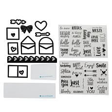 Diamond Press Tiny Notes Stamp and Die Kit