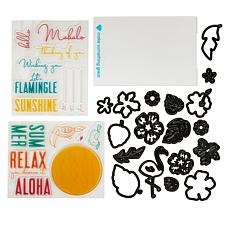 Diamond Press Tropical Layered Stamp and Die Kit