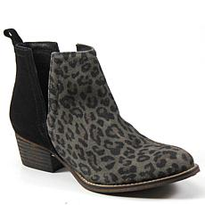 Diba True Look Down Leather V-Cut Ankle Bootie