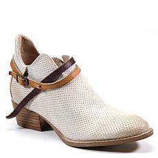 Diba True Slick Back Perforated Leather Bootie