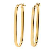 Dieci 10K Gold Elongated Oval Hoop Earrings