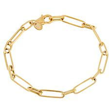 Dieci 10K Gold Paperclip Chain Bracelet