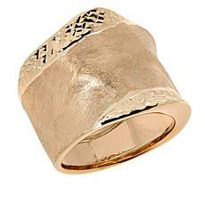 Dieci  10K Gold Satin-Finish Wide Wavy Ring