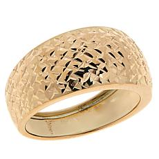 Dieci 10K Gold Textured Graduated Fancy Ring