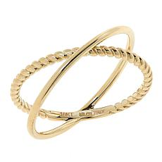 Dieci 10K Gold Twisted Electroform X Ring