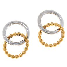 Dieci 10K Gold Two-Tone Interlocking Circle Drop Earrings