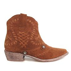 Diego di Lucca Idaho Suede Pull-On Western Bootie
