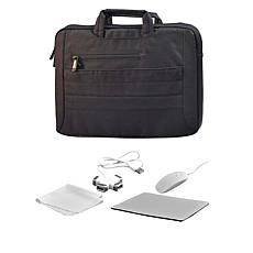 """Digital Basics 15"""" 2-in-1 Laptop Sleeve with Mouse and Accessories"""