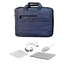 """Digital Basics 2-in-1 Laptop Sleeve for 17"""" Laptop with Accessories"""