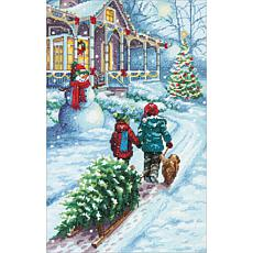 Dimensions Counted Cross Stitch Kit 9X14-Christmas Tradition 14 Count