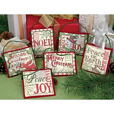 Dimensions Counted Cross-Stitch Ornaments - Christmas S