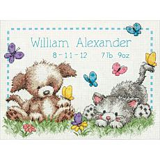 Dimensions Cross Stitch Kit - Pet Friends Birth Record