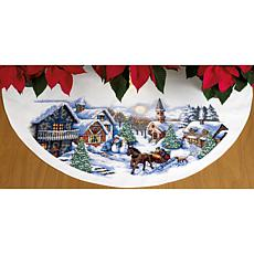Dimensions Sleigh Ride Tree Skirt Cross Stitch Kit