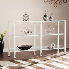 Dina Metal/Glass 3-Tier Console Media Stand - White